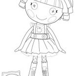 Lalaloopsy, Bea Spells A Lot From Lalaloopsy Coloring Page: Bea Spells a Lot from Lalaloopsy Coloring Page