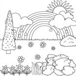 Nature, Beautiful Landscape View Of Nature Coloring Page: Beautiful Landscape View of Nature Coloring Page