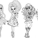 Monster High, Beautiful Outfit In Monster High Coloring Page: Beautiful Outfit in Monster High Coloring Page