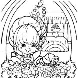 Rainbow Brite, Beautiful Rainbow Brite Coloring Page: Beautiful Rainbow Brite Coloring Page