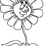 Spring Flower, Big Nosed Spring Flower Coloring Page: Big Nosed Spring Flower Coloring Page