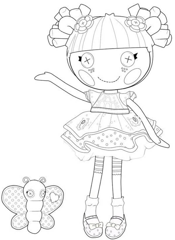 Lalaloopsy, : Blossom Flower Pot from Lalaloopsy Coloring Page
