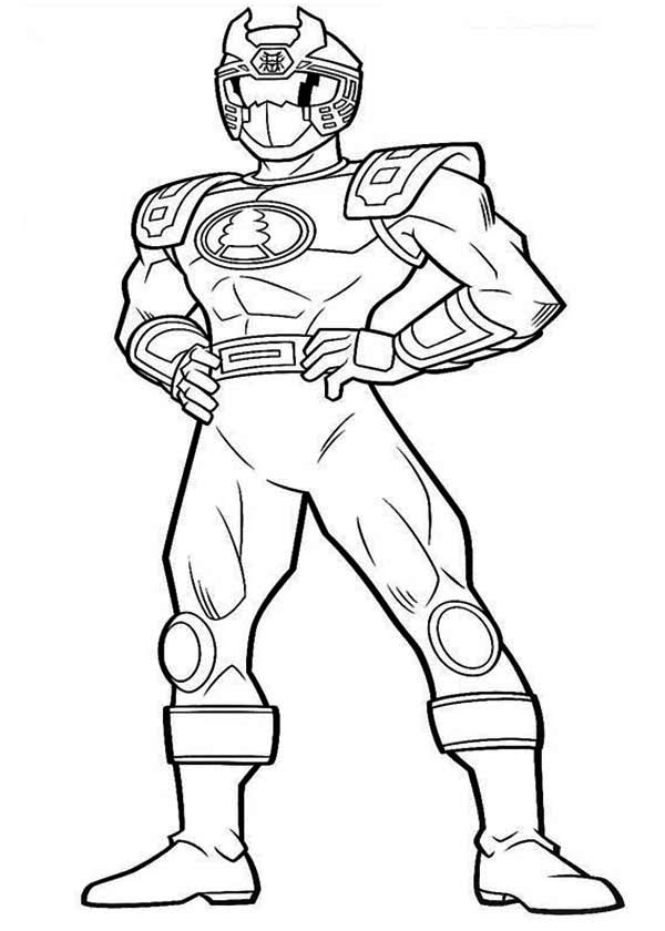 Power Rangers, : Blue Ranger in Power Rangers Ninja Storm Coloring Page