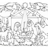 Nativity, Born Of The King Of Jews In Nativity Coloring Page: Born of the King of Jews in Nativity Coloring Page