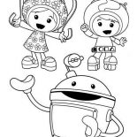 Team Umizoomi, Bot Introduce Milli And Geo In Team Umizoomi Coloring Page: Bot Introduce Milli and Geo in Team Umizoomi Coloring Page