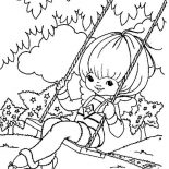 Rainbow Brite, Canary Yellow Play Swing In Rainbow Brite Coloring Page: Canary Yellow Play Swing in Rainbow Brite Coloring Page
