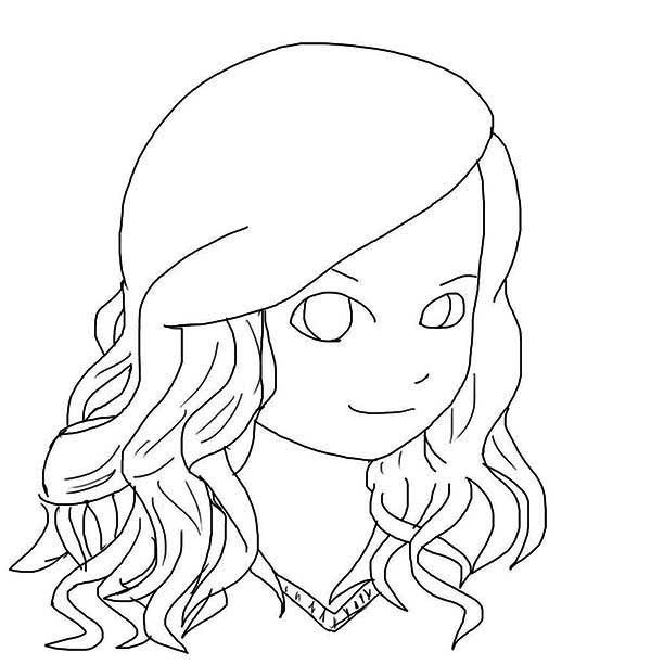 Taylor Swift, : Chibi Taylor Swift Coloring Page