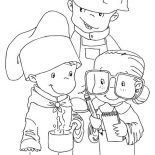 Labor Day, Children Dress As Workers In Labor Day Coloring Page: Children Dress as Workers in Labor Day Coloring Page