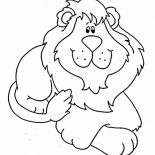Lion, Cute Lion Doll Coloring Page: Cute Lion Doll Coloring Page