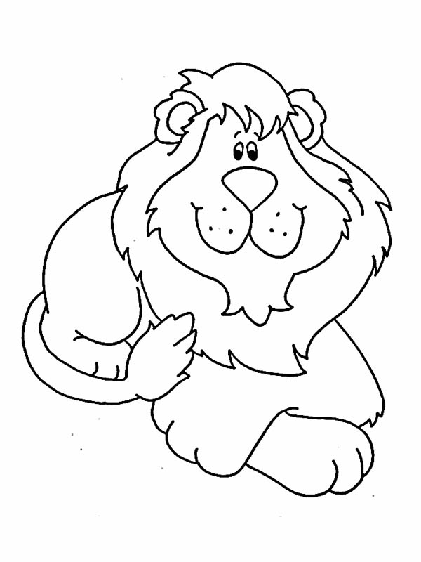 Lion, : Cute Lion Doll Coloring Page