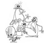 Monsters vs Aliens, Cute Little Character From Monster Vs Aliens Coloring Page: Cute Little Character from Monster vs Aliens Coloring Page