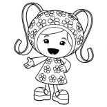 Team Umizoomi, Cute Little Milli In Team Umizoomi Coloring Page: Cute Little Milli in Team Umizoomi Coloring Page