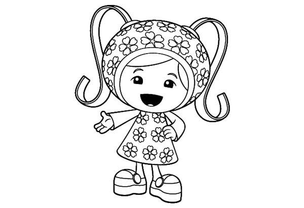 Team Umizoomi, : Cute Little Milli in Team Umizoomi Coloring Page