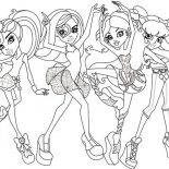 Monster High, Dance Class In Monster High Coloring Page: Dance Class in Monster High Coloring Page