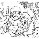 Nativity, Depiction Of Nativity Coloring Page: Depiction of Nativity Coloring Page
