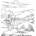 Parable of the Sower, Depiction Of Parable Of The Sower Coloring Page: Depiction of Parable of the Sower Coloring Page