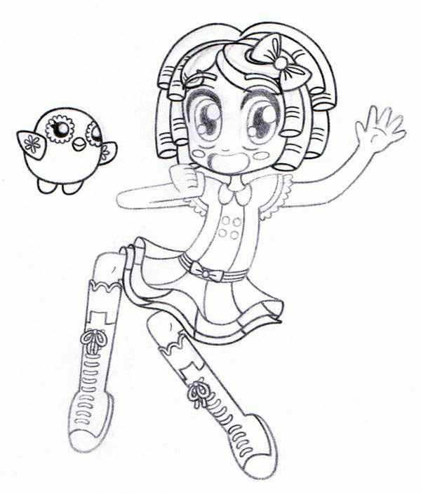 Lalaloopsy, : Dot Starlight Little Bit Shock and say Oh My Stars in Lalaloopsy Coloring Page