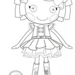 Lalaloopsy, Dot Starlight From Lalaloopsy Coloring Page: Dot Starlight from Lalaloopsy Coloring Page