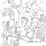The Cat in the Hat, Dr Seuss The Cat In The Hat Show Sally And Her Brother His Garden Coloring Page: Dr Seuss the Cat in the Hat Show Sally and Her Brother His Garden Coloring Page