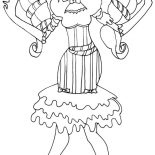 Monster High, Draculaura Beautiful Hair In Monster High Coloring Page: Draculaura Beautiful Hair in Monster High Coloring Page