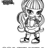 Monster High, Draculaura From Monster High Coloring Page: Draculaura From Monster High Coloring Page