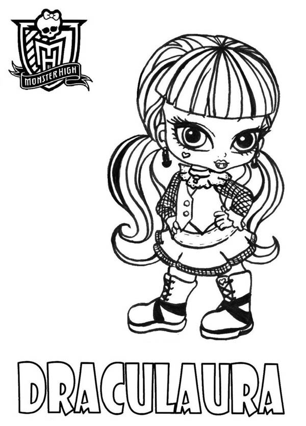 Monster High, : Draculaura From Monster High Coloring Page