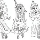 Monster High, Draculaura And Friends In Dancer Clothes In Monster High Coloring Page: Draculaura and Friends in Dancer Clothes in Monster High Coloring Page