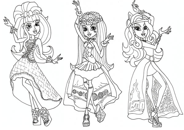 Monster High Coloring Page Barcaselpheeco