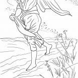 Parable of the Sower, Drawing Parable Of The Sower Coloring Page: Drawing Parable of the Sower Coloring Page