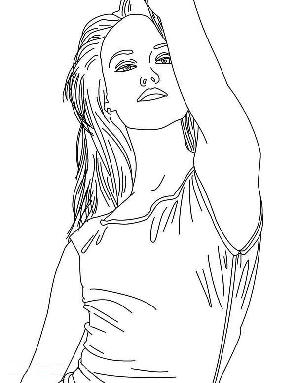 Drawing Taylor Swift Coloring Page : Color Luna