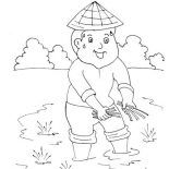 Labor Day, First Day Of May Month Is Labor Day In India Coloring Page: First Day of May Month is Labor Day in India Coloring Page