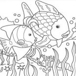 Nature, Fish In The Lake Of Nature Coloring Page: Fish in the Lake of Nature Coloring Page