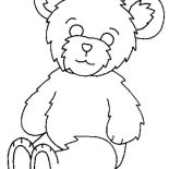 Teddy Bear, Fluffy Teddy Bear Coloring Page: Fluffy Teddy Bear Coloring Page