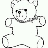 Teddy Bear, Freddy The Teddy Bear Coloring Page: Freddy the Teddy Bear Coloring Page