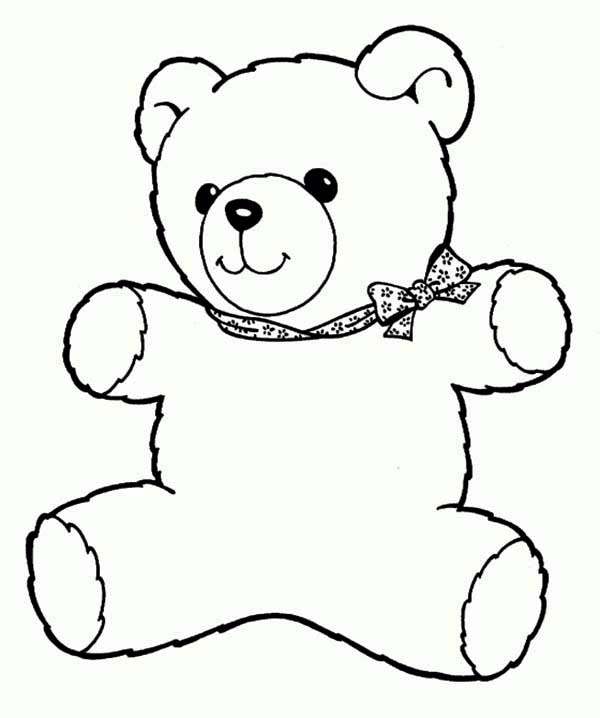 Teddy Bear, : Freddy the Teddy Bear Coloring Page