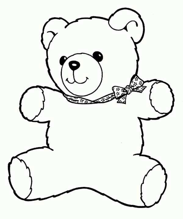 Freddy The Teddy Bear Coloring Page Color Luna