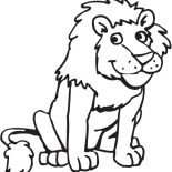 Lion, Funny Picture Of A Lion Coloring Page: Funny Picture of a Lion Coloring Page