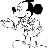 Mickey Mouse, General Mickey Mouse Coloring Page: General Mickey Mouse Coloring Page