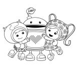 Team Umizoomi, Geo And Milli Hug Bot In Team Umizoomi Coloring Page: Geo and Milli Hug Bot in Team Umizoomi Coloring Page