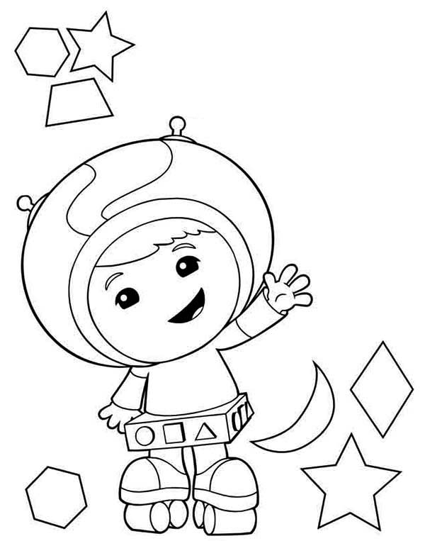 Team Umizoomi, : Geo the Shape Expert in Team Umizoomi Coloring Page