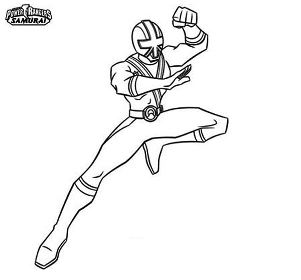 Power Rangers, : Green Ranger in Power Rangers Samurai Coloring Page