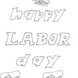 Labor Day, Happy Labor Day Coloring Page: Happy Labor Day Coloring Page