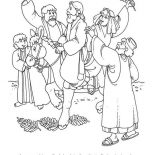 Palm Sunday, History Of Palm Sunday Coloring Page: History of Palm Sunday Coloring Page