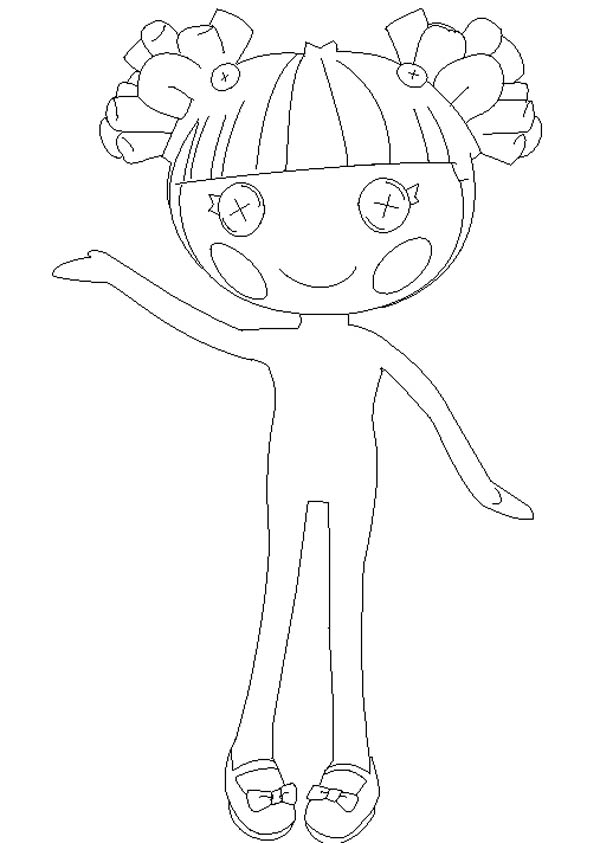 Hoe To Draw Lalaloopsy Coloring