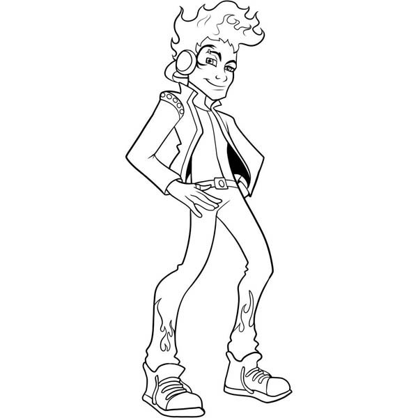 Monster High, : Holt Hyde from Monster High Coloring Page