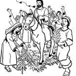 Palm Sunday, Hosanna Hosanna In Palm Sunday Coloring Page: Hosanna Hosanna in Palm Sunday Coloring Page