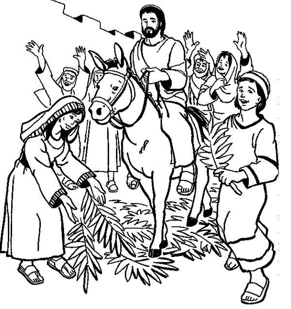 coloring pages jesus donkey jerusalem - photo#19