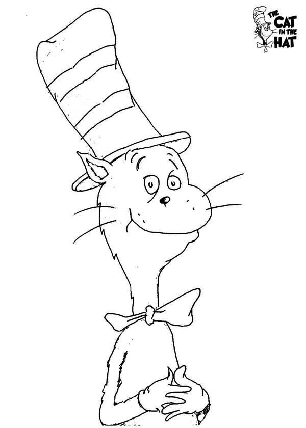 The Cat in the Hat, : How to Draw Dr Seuss the Cat in the Hat Coloring Page