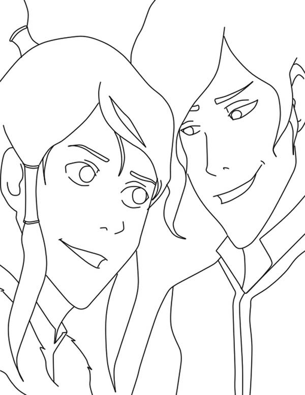 The Legend of Korra, : How to Draw Mako and Korra Coloring Page