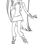 Monster High, How To Draw Monster High Character Coloring Page: How to Draw Monster High Character Coloring Page